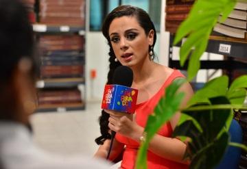 Karla Lorena Romero alegre y espontanea la embajadora de Paraíso