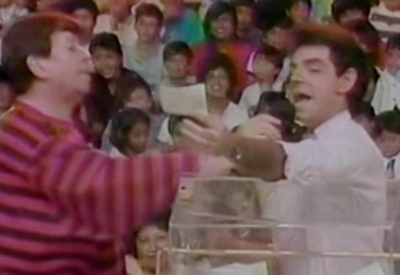 Circula video de cuando Eugenio Derbez fue edecán de Chabelo