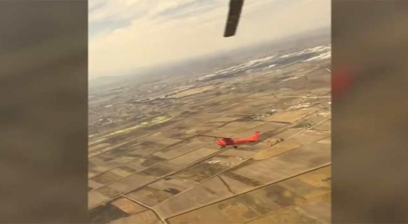 Piloto de la PF auxilia en aterrizaje a avioneta y evita accidente