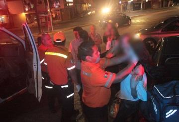 """Dos jovencitas terminan lesionadas por choque en la """"La Chichona"""""""