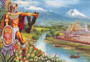 Un 13 de marzo de 1325. Al terminar su larga peregrinación los mexicas fundan la gran Tenochtitlán