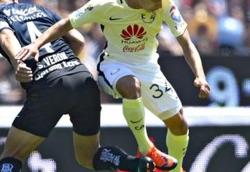 Juegan dos tabasqueños el Clasico Capitalino; América gana 3-2 a Pumas