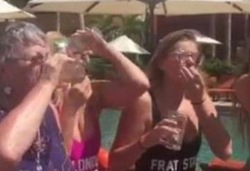 Abuelita reparte shots en playas mexicanas y se vuelve viral