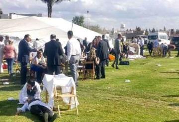 Cae carpa en celebración de primera comunión; Reportan 41 lesionados
