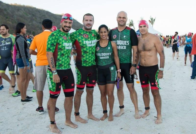 Orgullo tabasqueño presente en triatlón Ironman 70.3 de Campeche 2017