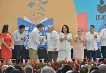 ANJ presidió la Gran Cruzada de Alfabetización y Combate al Rezago Educativo