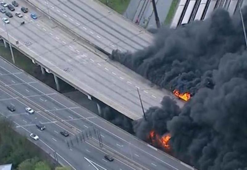Puente carretero de Atlanta se derrumbe debido a un incendio