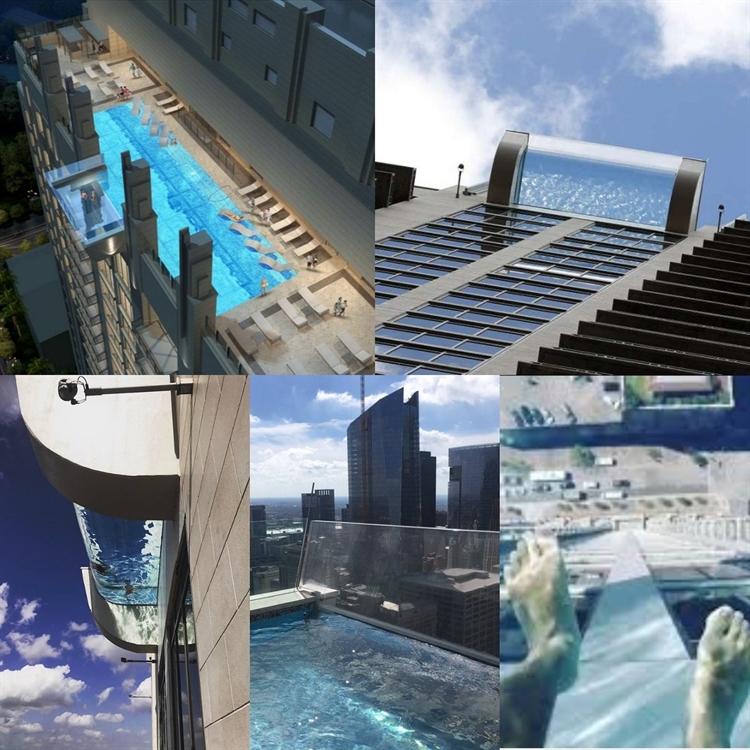 Conoce la piscina suspendida a 12 metros de altura y con for Orgia en la piscina