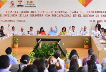 Encabeza ANJ reinstalación del Consejo Estatal para Inclusión a personas con discapacidad