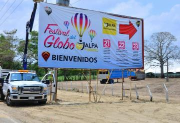 Se alista Jalpa de Méndez para Festival del Globo
