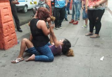 Mujeres montan una pelea en pleno centro de Cárdenas