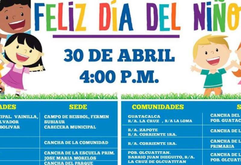 Actividades del Día de Niño en Nacajuca