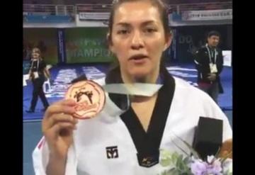 María del Rosario se cuelga bronce en el Mundial de Taekwondo