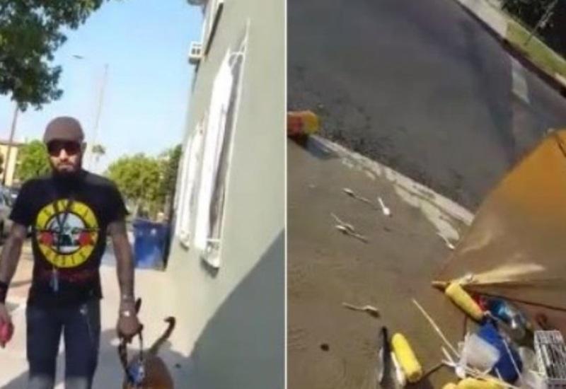 """Argentino tira puesto de comida de comerciante mexicano en EU porque """"obstruía el paso"""""""