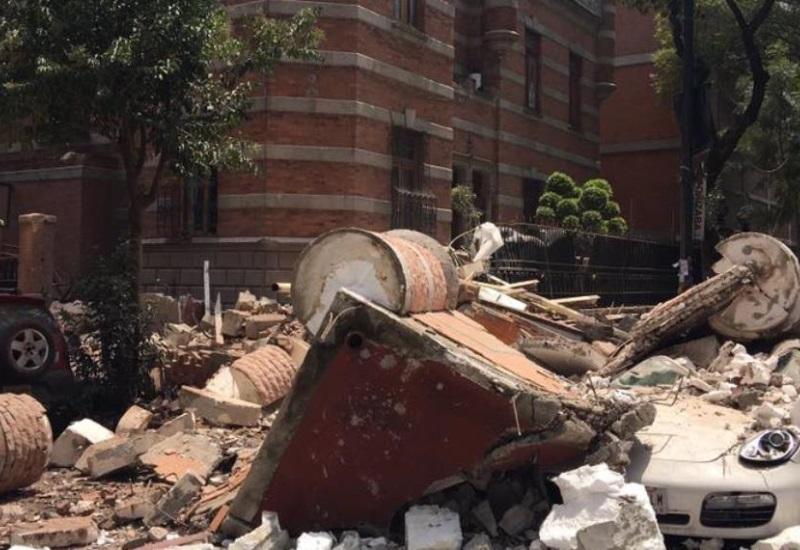 Imágenes del sismo de 7.1 provoca colapso de varios  edificios en  CDMX