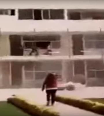 Momentos después de que se derrumba el colegio 'Enrique Rébsamen' (VIDEO)