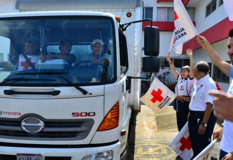 Cruz Roja Tabasco  envía ayuda a Chiapas y Oaxaca