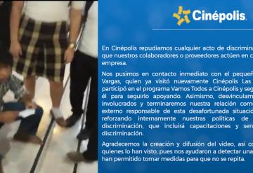Cinepolis da postura sobre discriminación en Plaza Las Américas Villahermosa
