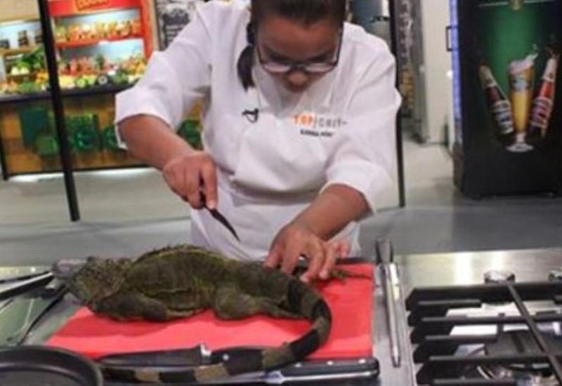 """Controversia en  """"Top Chef"""" al cocinar animal exótico en vivo"""