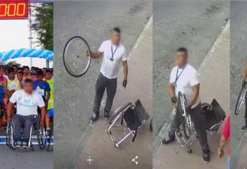 Denuncian a supuesto discapacitado durante carrera   Villahermosa