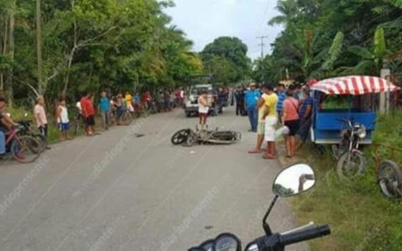 Ciclista muere al ser atropellado por un motociclista