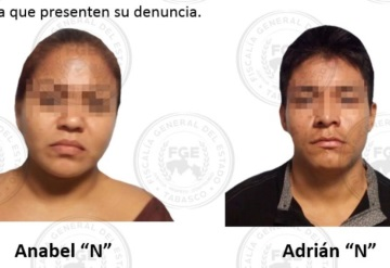 Por robo a tienda departamental, asegura FGE en flagrancia a una pareja en Villahermosa