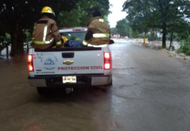 Van 51 comunidades afectadas por las fuertes lluvias en Tabasco