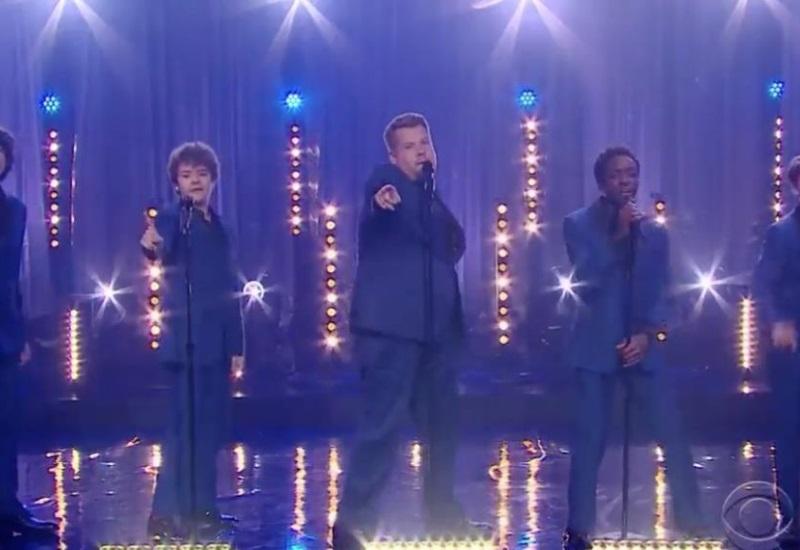 Los pequeños de Stranger Things se convierten en una banda adolescente con James Corden
