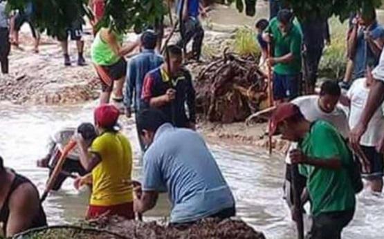 Lugareños inician trabajos para recuperar cascadas de Agua Azul