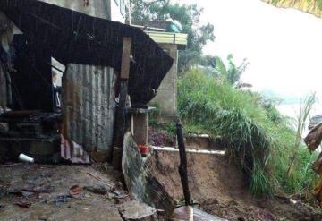 Tras la lluvia reportan varios deslaves en Villahermosa