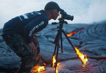 Lo que tiene que hacer un fotógrafo...