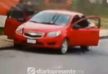 Roban automóvil a punta de pistola en Villahermosa