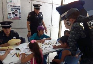 Gendarmería convive con los pequeños