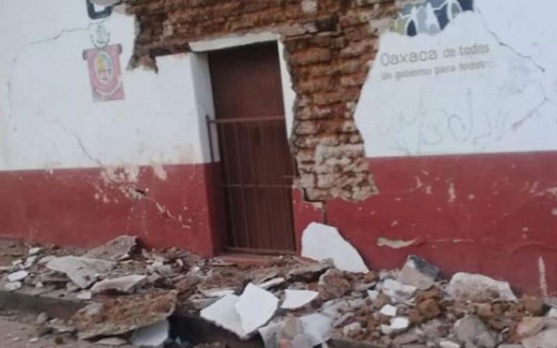 Reportan primeros daños en Oaxaca tras sismo