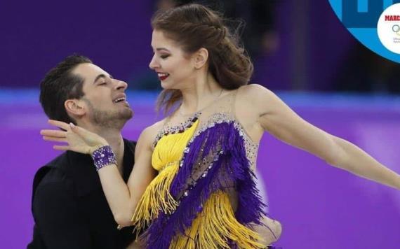 Al son de Cucurrucucú paloma, presentan rutina patinadores ucranianos en PyeongChang