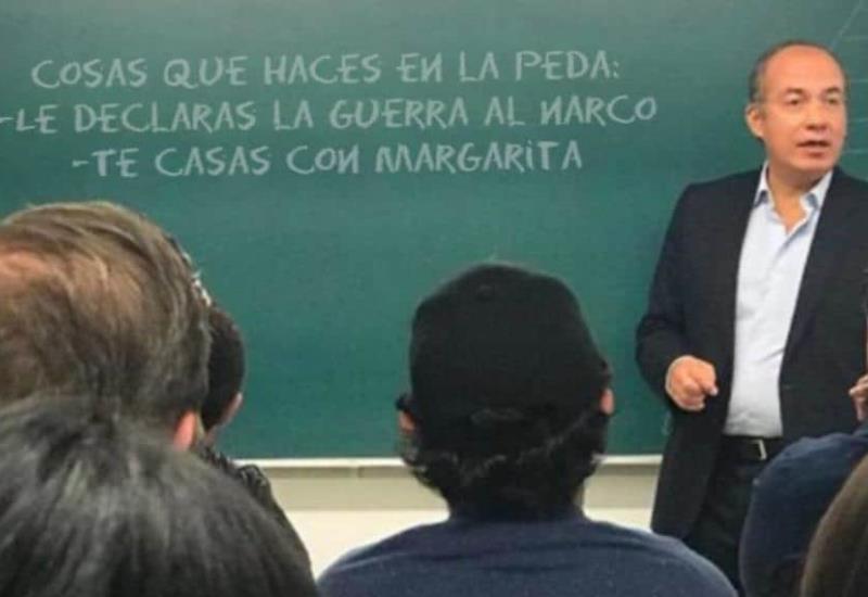 Felipe Calderón imparte cátedra en el ITAM e internautas se burlan con memes