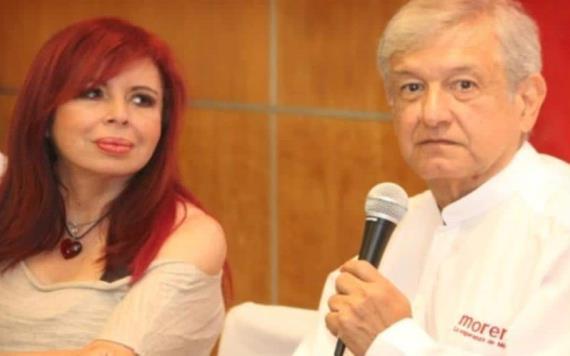 Genera polémica video de Layda Sansores besando la mano de López Obrador