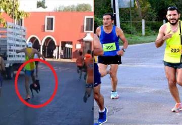 Pseudo atleta patea a un perro durante carrera