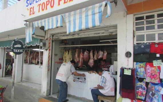 Aseguran 51.5 kilogramos de carne de res en Centla