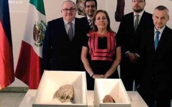 Devuelve Alemania a México dos piezas olmecas