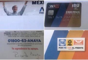 Denuncian entrega de tarjetas a nombre de Ricardo Anaya; ofrecen mil 500 pesos mensuales