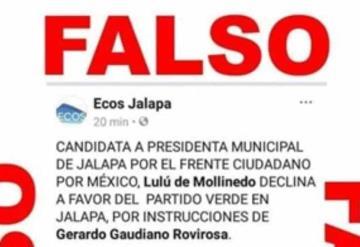 Denuncian intento de confundir a la población en Jalapa