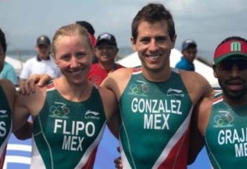 México, absoluto campeón del triatlón de relevos mixto en JCC