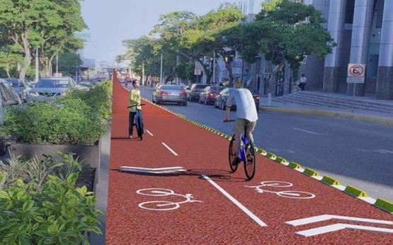 Fotogaleria: Así quedarían los carriles compartidos con ciclistas en Paseo Tabasco