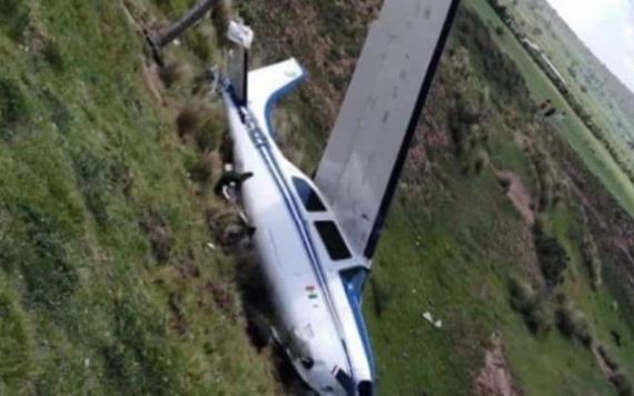 Se desploma avioneta en la México - Tuxpan