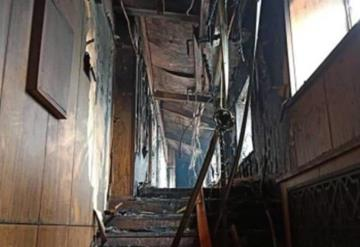 Se incendia hotel en China