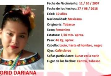 Encuentran a niña desaparecida en Villa Ocuiltzapotlan