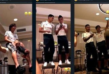 Jugadores del Tri hacen novatada a Diego Lainez