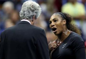 Multan a Serena Williams con 17 mil dólares por berrinche en final del Abierto de EU