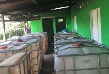 Asegura PGR 40 mil litros de hidrocarburo en Huimanguillo